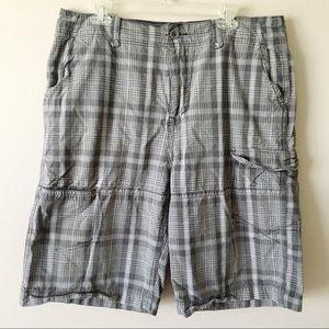 ARIZONA JEAN COMPANY Plaid Cargo Shorts